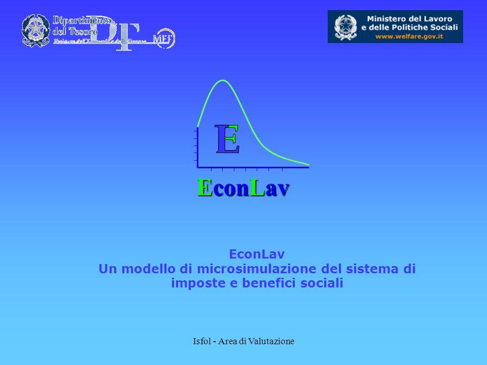 Isfol - Area di Valutazione EconLav EconLav Un modello di microsimulazione del sistema di imposte e benefici sociali