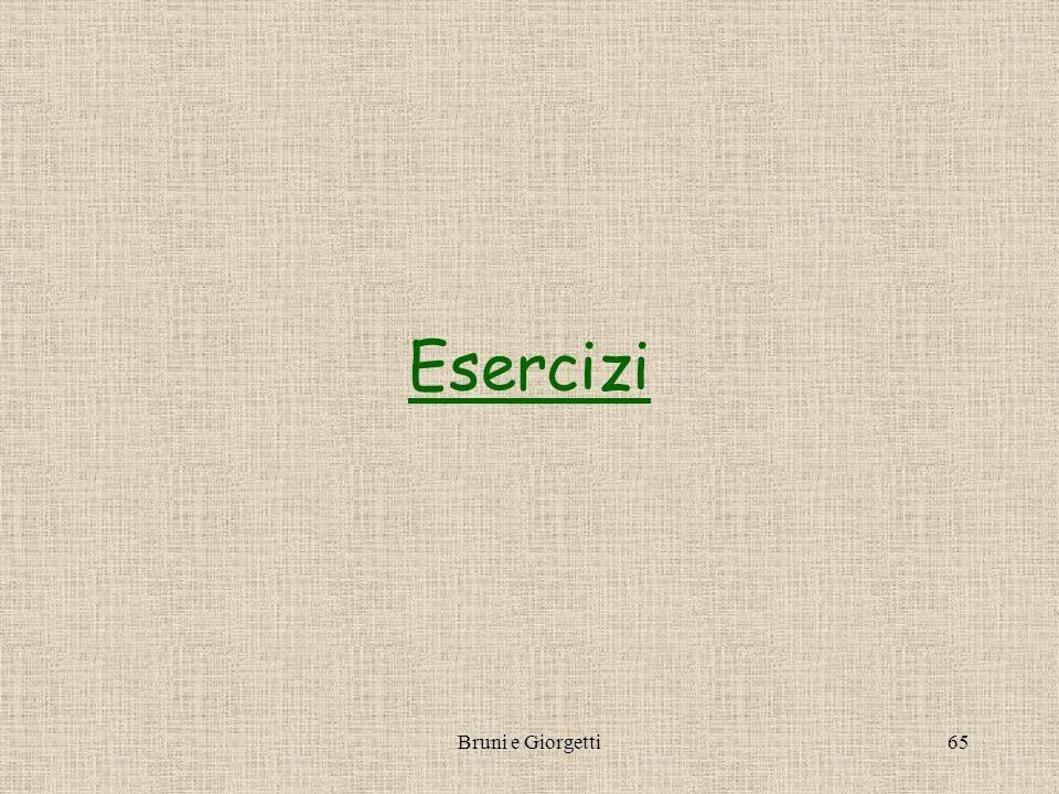 Bruni e Giorgetti65 Esercizi