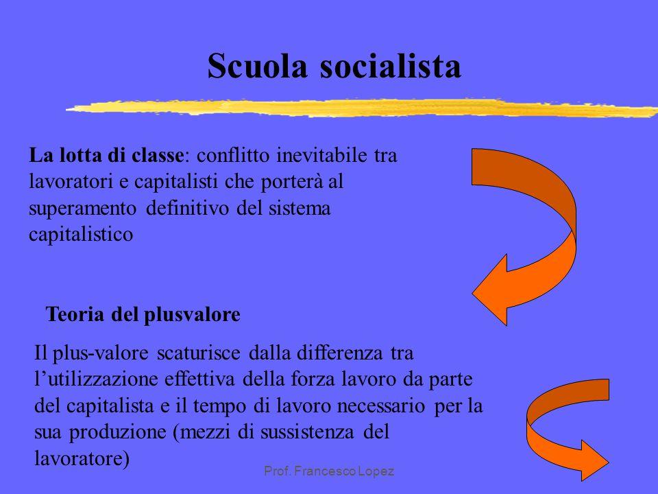 Prof. Francesco Lopez SCUOLA SOCIALISTA Critica in termini scientifici del modo di produzione capitalistico : i fatti sociali dipendono dai mutamenti