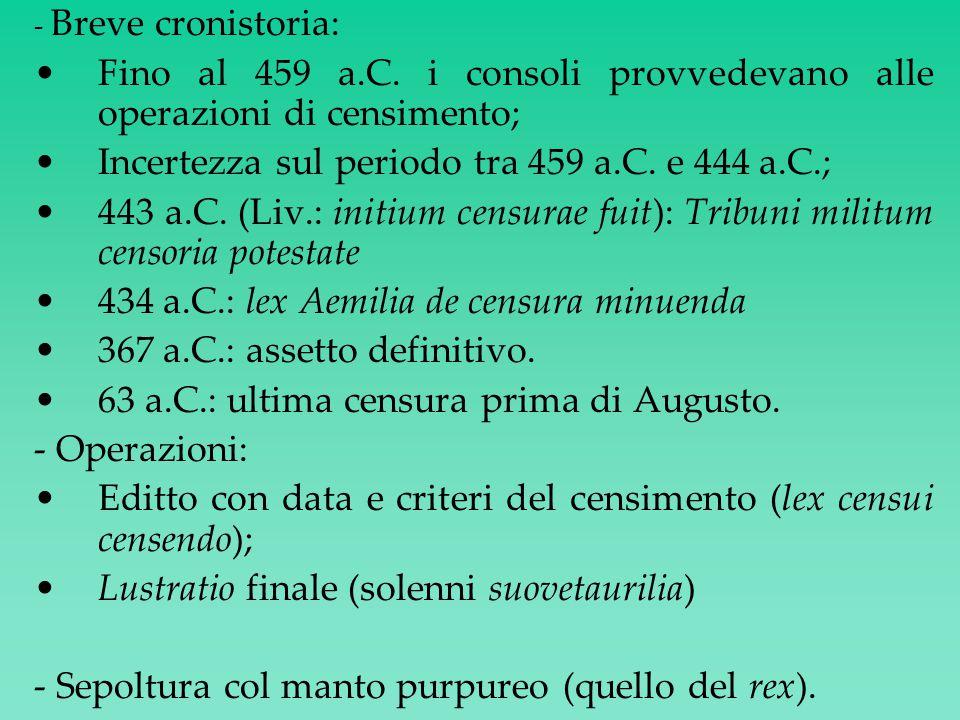 DICTATOR - Magistrato straordinario non collegiale; - Anche detto magister populi (problema della magistratura delle origini).