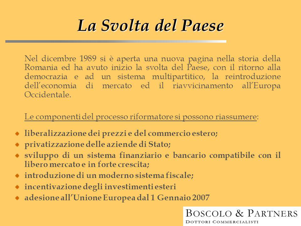 La Svolta del Paese Nel dicembre 1989 si è aperta una nuova pagina nella storia della Romania ed ha avuto inizio la svolta del Paese, con il ritorno a