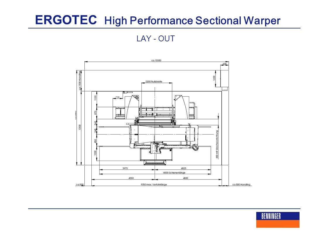 ERGOTEC High Performance Sectional Warper LAY - OUT