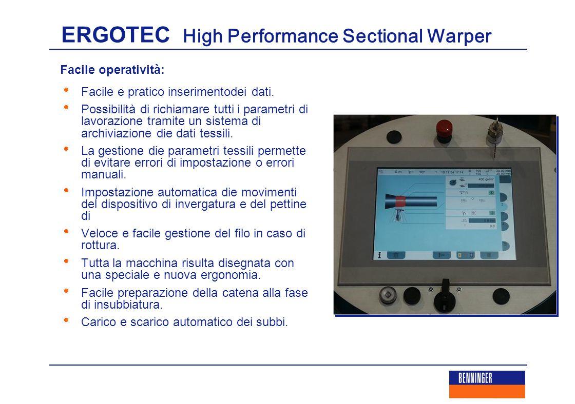 ERGOTEC High Performance Sectional Warper