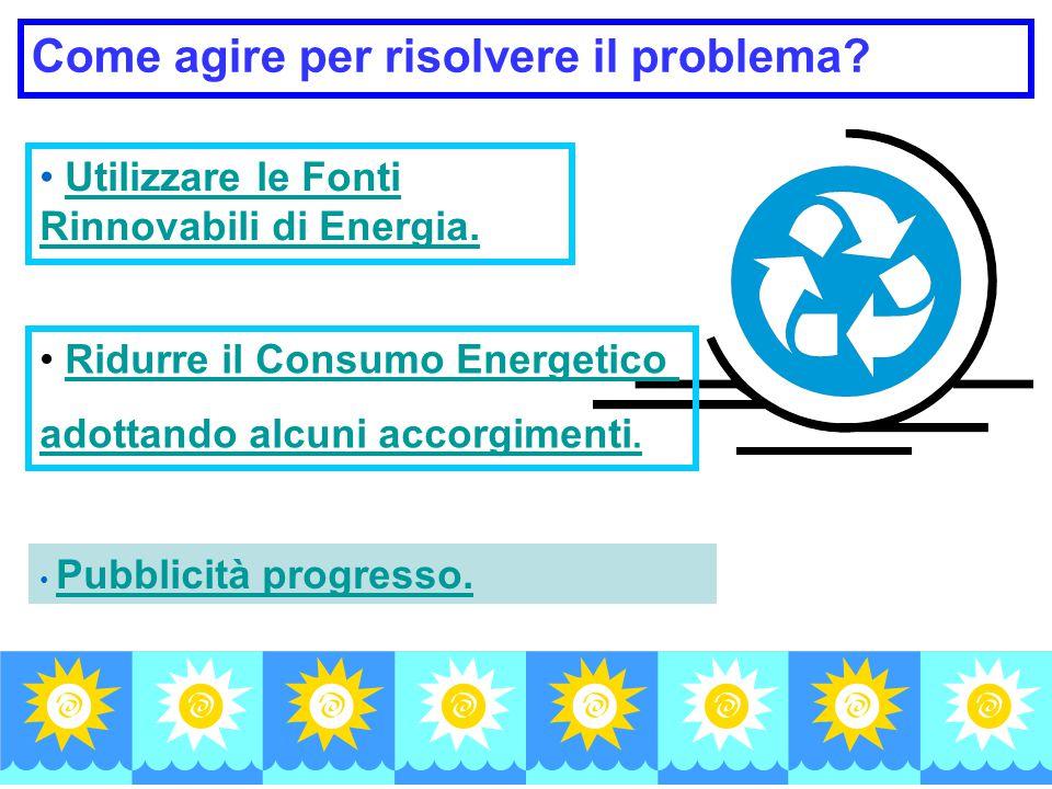 Utilizzare le Fonti Rinnovabili di Energia.Utilizzare le Fonti Rinnovabili di Energia.