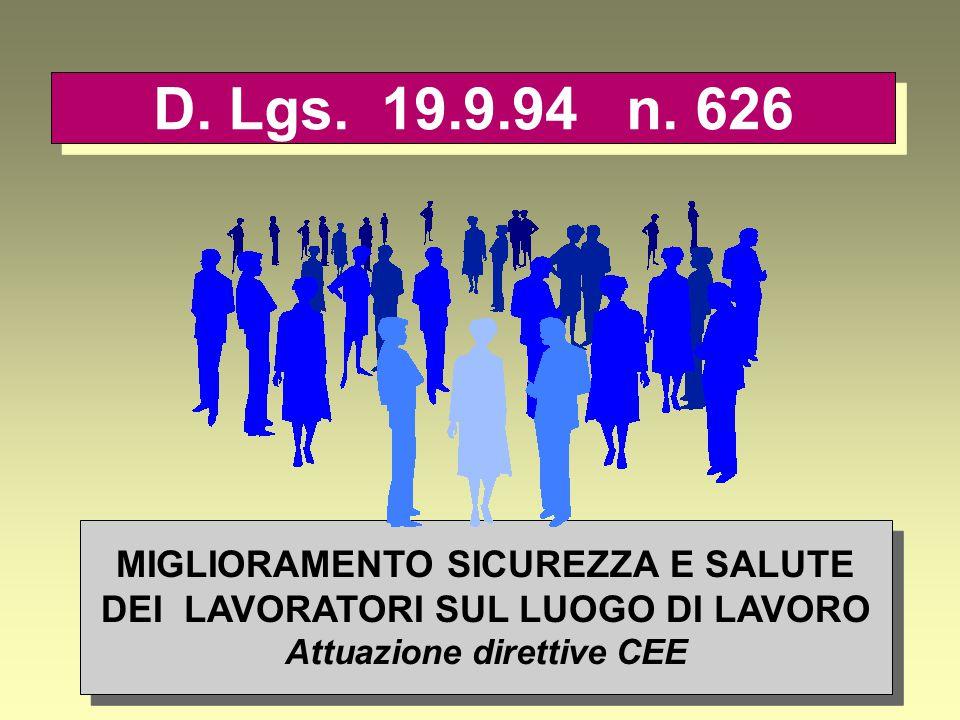 USO DI ATTREZZATURE MUNITE DI VIDEOTERMINALE (Art.