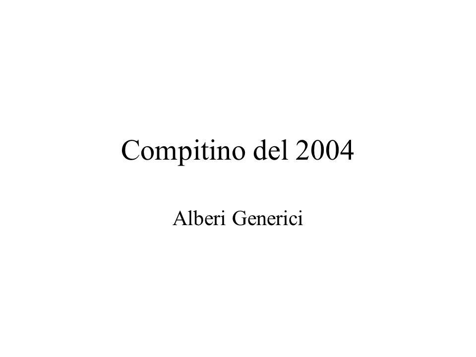 Compitino del 2004 Alberi Generici