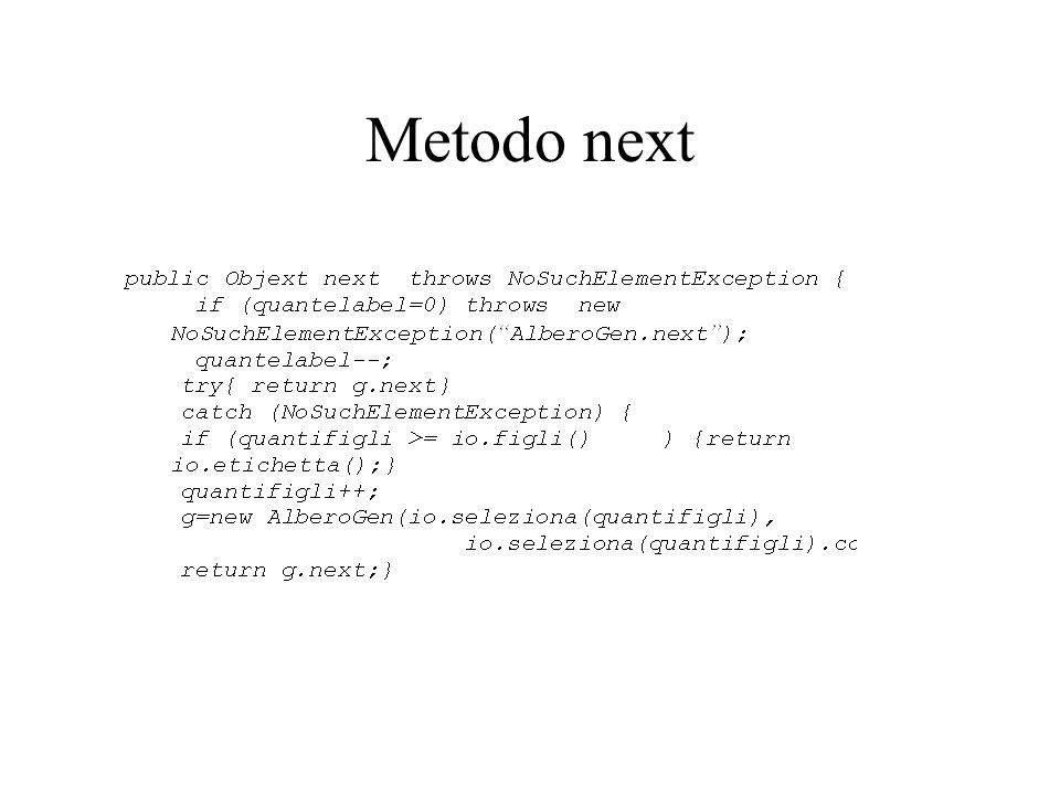 Metodo next