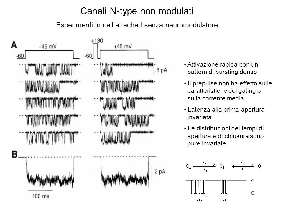 Esperimenti in whole cell Il legame di G  al canale è voltaggio-dipendente!
