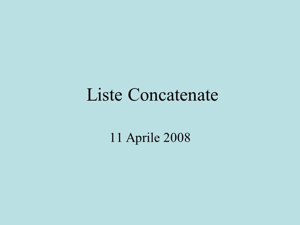 Liste Concatenate 11 Aprile 2008