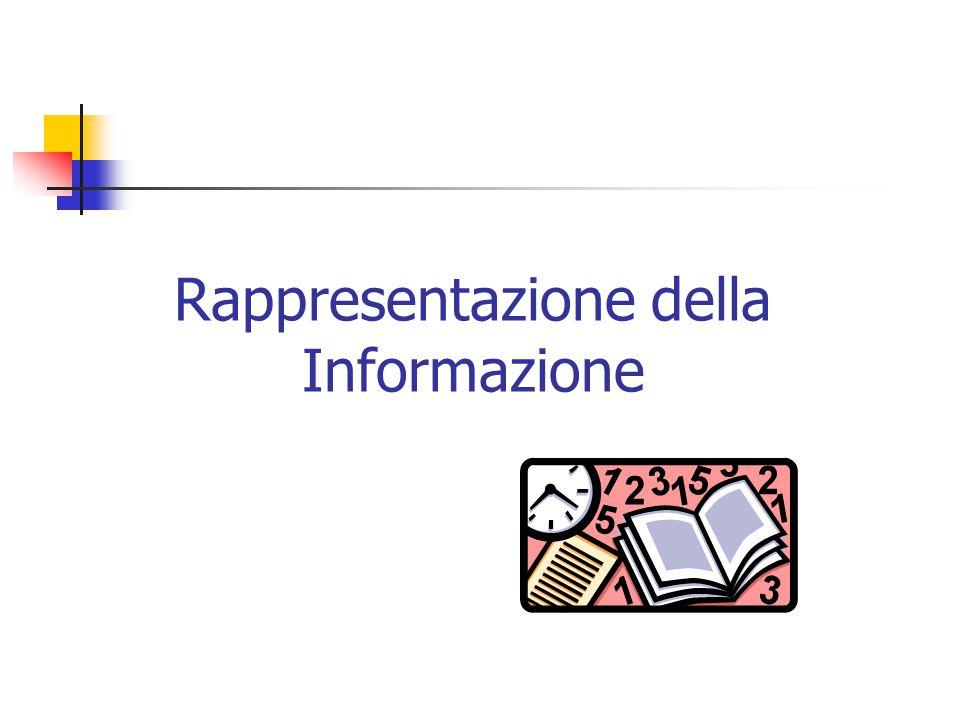 Rappresentazione della Informazione