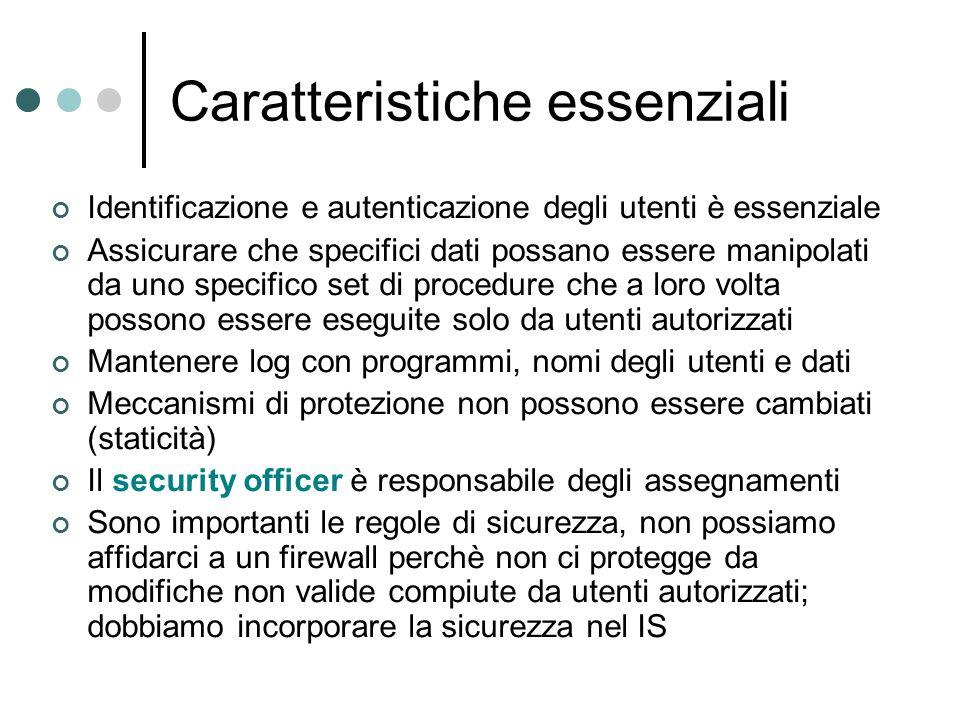 Certification properties (2) C3 : la relazione permessa deve supportare il principio della separazione dei compiti.