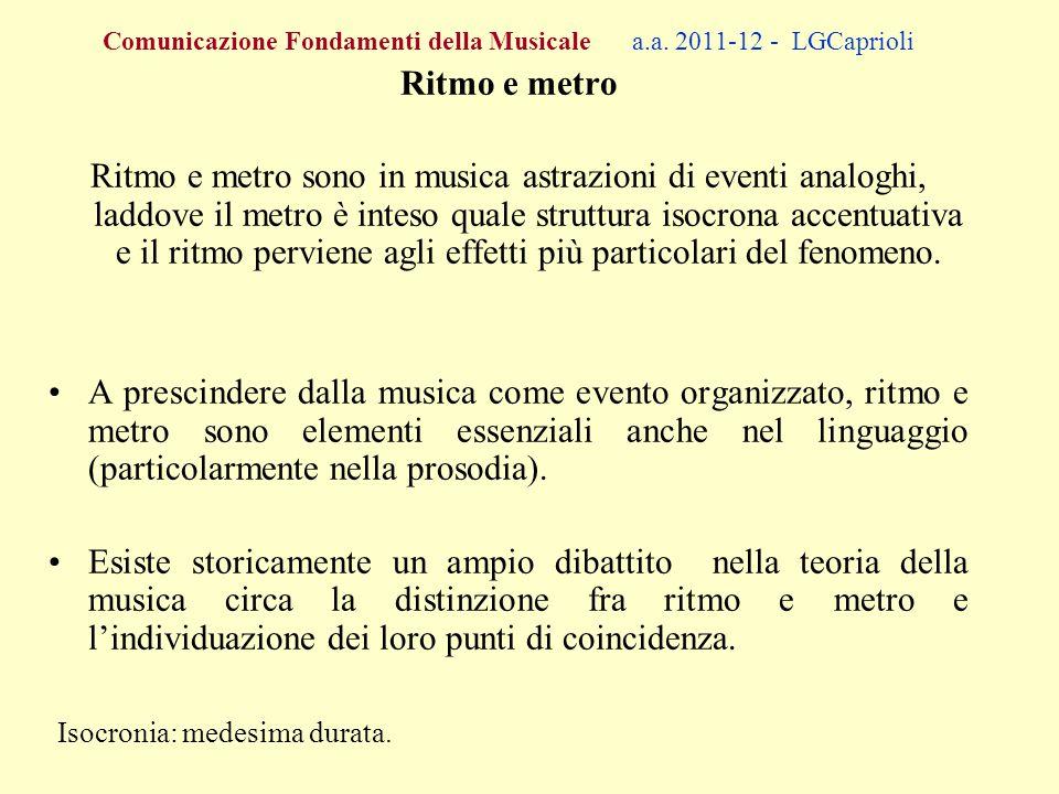 Comunicazione Fondamenti della Musicale a.a.