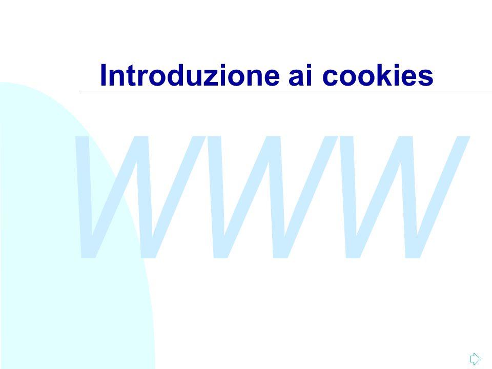 WWW Introduzione ai cookies