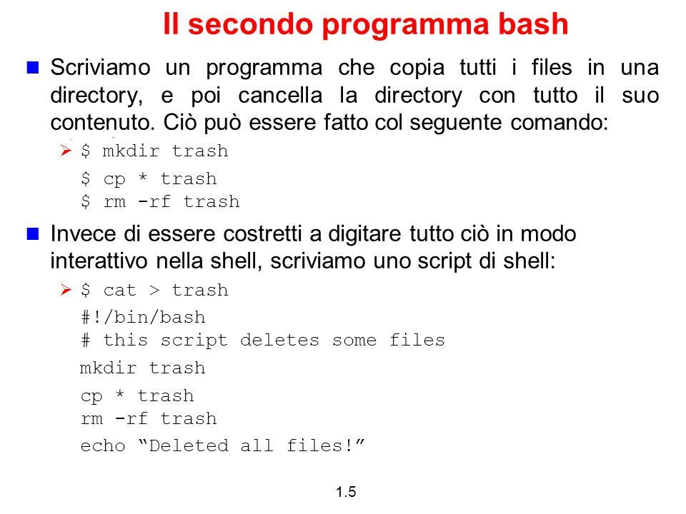 1.6 Variabili Si possono usare le variabili come in ogni linguaggio di programmazione.