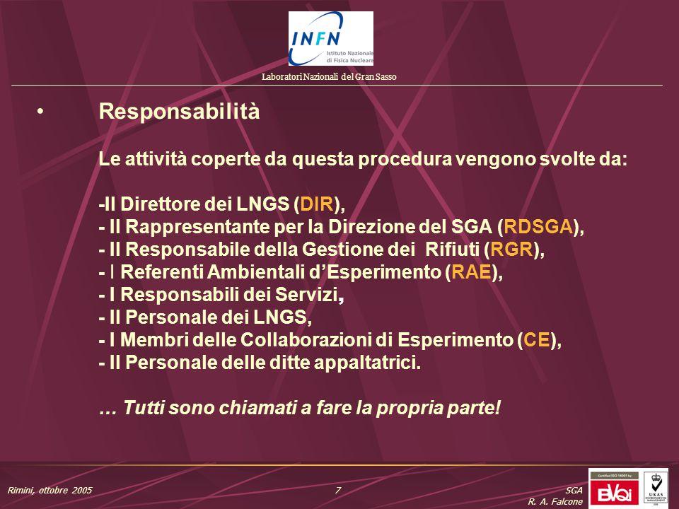 Laboratori Nazionali del Gran Sasso SGA R. A.