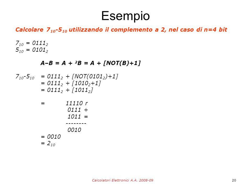 Calcolatori Elettronici A.A.