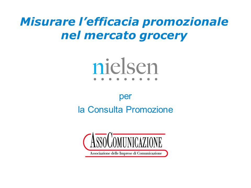 Confidential & Proprietary Copyright © 2007 The Nielsen Company Misurare l'efficacia promozionale nel mercato grocery per la Consulta Promozione