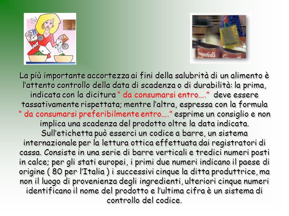Sull'etichetta devono essere indicati obbligatoriamente e in modo ben individuabile tutti gli ingredienti che compongono il prodotto, che vanno elencati in ordine decrescente di quantità.