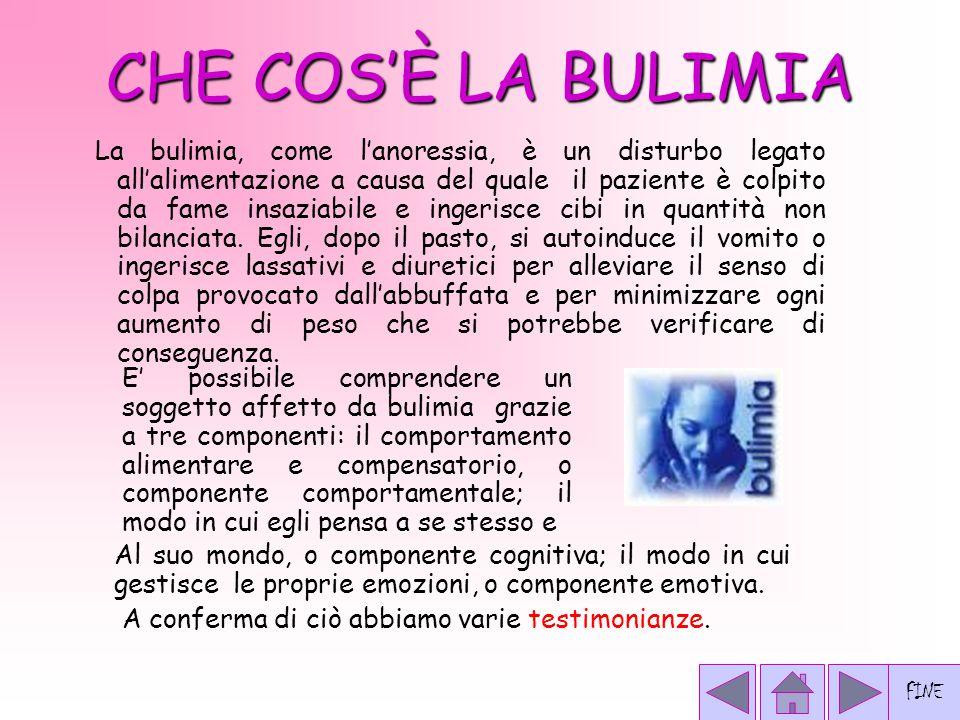 LA BULIMIA  CHE COS'E' LA BULIMIA.