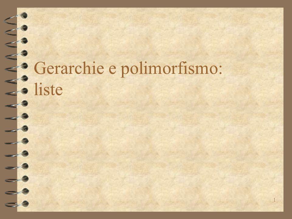 1 Gerarchie e polimorfismo: liste