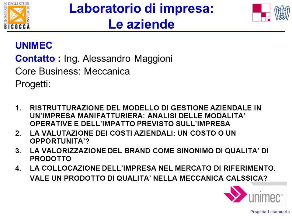 Progetto Laboratorio Laboratorio di impresa: Le aziende IMBALKRAFT Contatto : Dott.