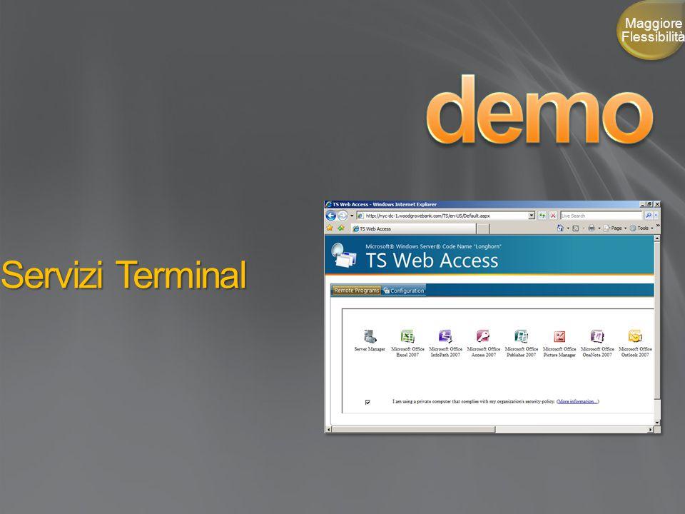 Servizi Terminal Maggiore Flessibilità