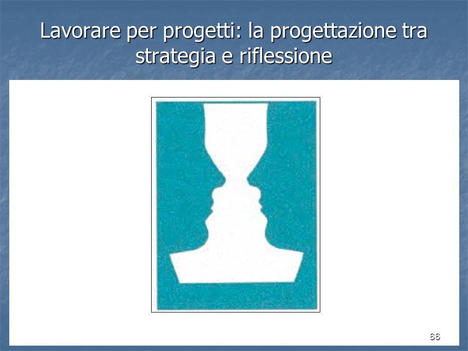 66 Lavorare per progetti: la progettazione tra strategia e riflessione