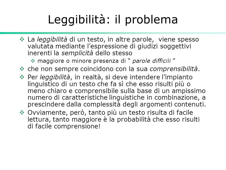 Risultati indagine Genesio  La Repubblica :Gulpease 49.2, Flesch-Vacca 52