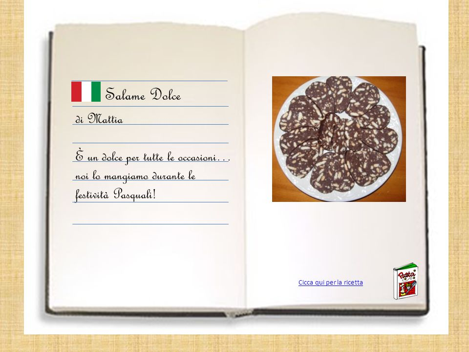 Salame Dolce di Mattia È un dolce per tutte le occasioni… noi lo mangiamo durante le festività Pasquali.