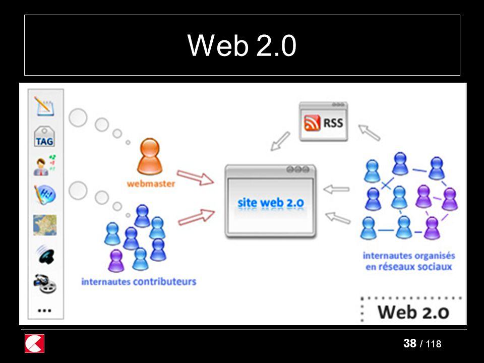 38 / 118 Web 2.0