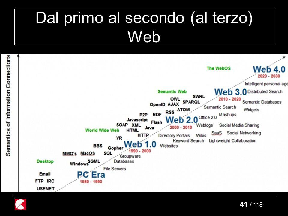 41 / 118 Dal primo al secondo (al terzo) Web