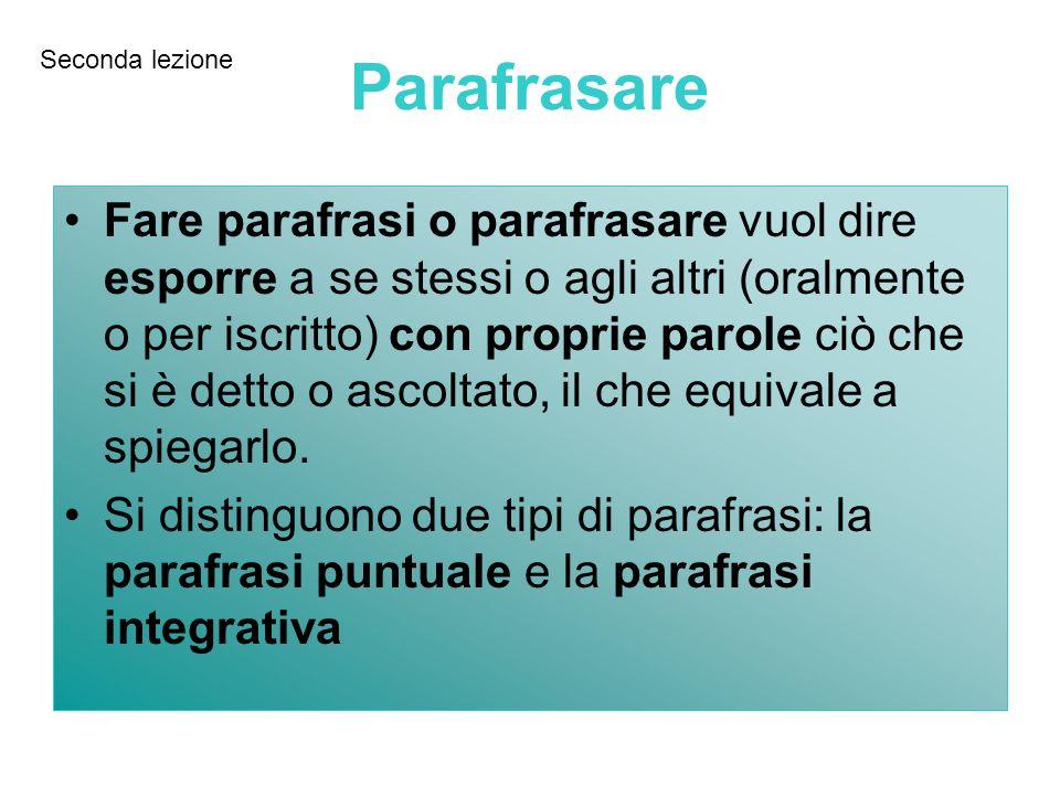 SequenzeDomandeParole-chiaveTitolo-frase Schema base