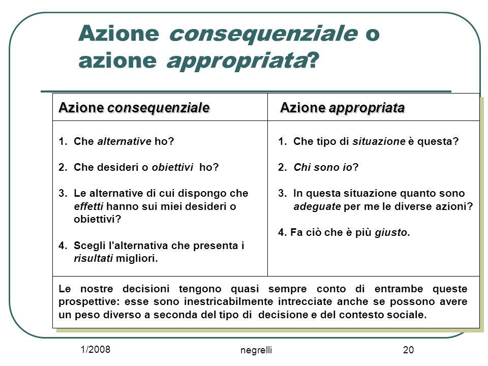 1/2008 negrelli 20 Azione consequenziale o azione appropriata.