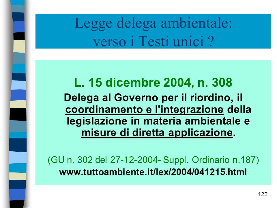 121 Verso il T.U. italiano ed europeo