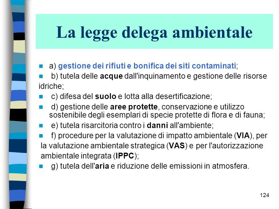 123 La legge delega ambientale Art.1.