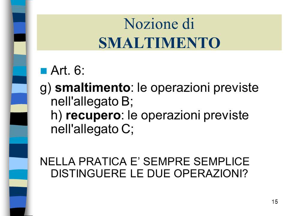 14 Raccolta differenziata (2004) I comuni italiani che hanno raggiunto il traguardo del 35% di raccolta differenziata previsto dal D.