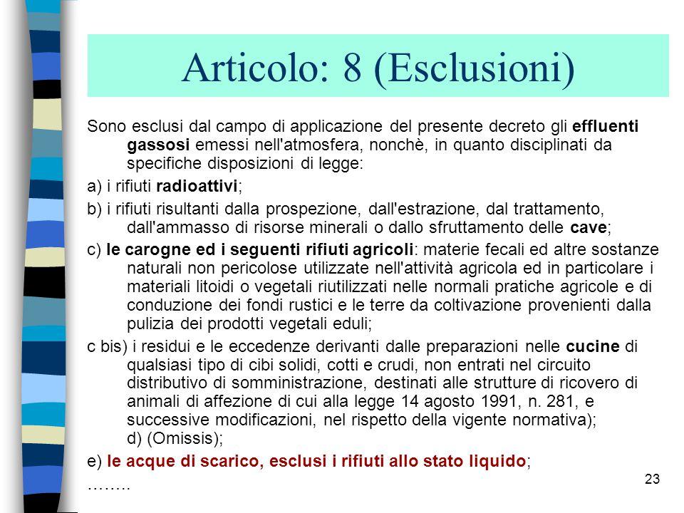 22 CATALOGO EUROPEO DEI RIFIUTI Corte di Giustizia CE (Quinta Sezione) 29 aprile 2004 secondo il punto 3 della nota introduttiva al CER, quest ultimo costituisce un elenco di rifiuti non esaustivo.