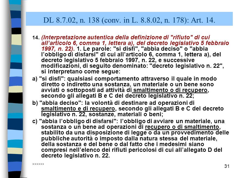 30 Dlvo 5 febbraio 1997, n.22, art. 6 Art.6. (Definizioni).