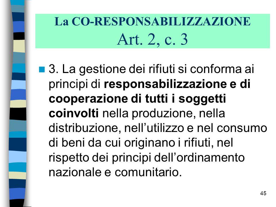 44 Articolo: 10 (Oneri dei produttori e dei detentori).