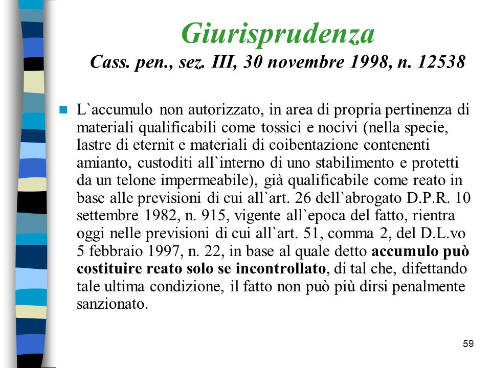 58 Articolo: 50 (Abbandono di rifiuti) c.1 1.