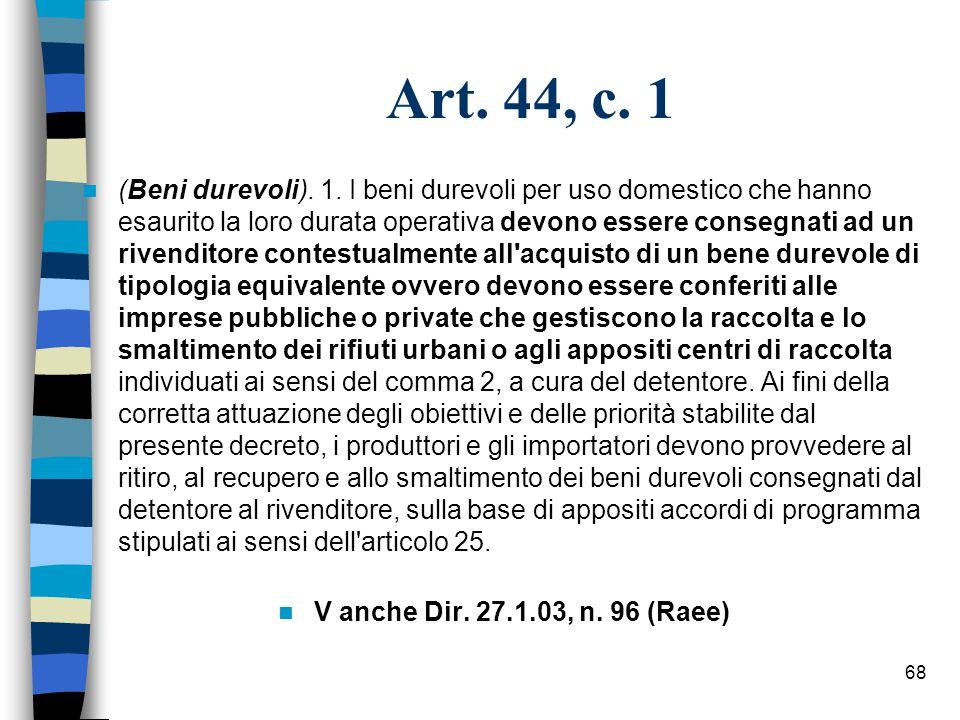 67 Art.43, c. 2 2.