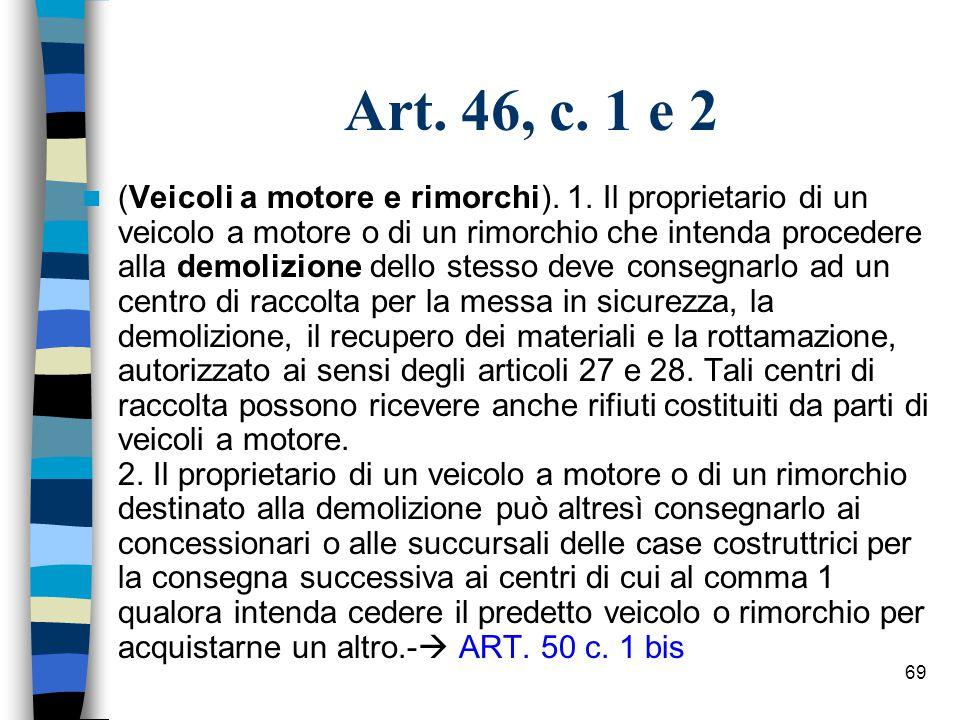 68 Art.44, c. 1 (Beni durevoli). 1.