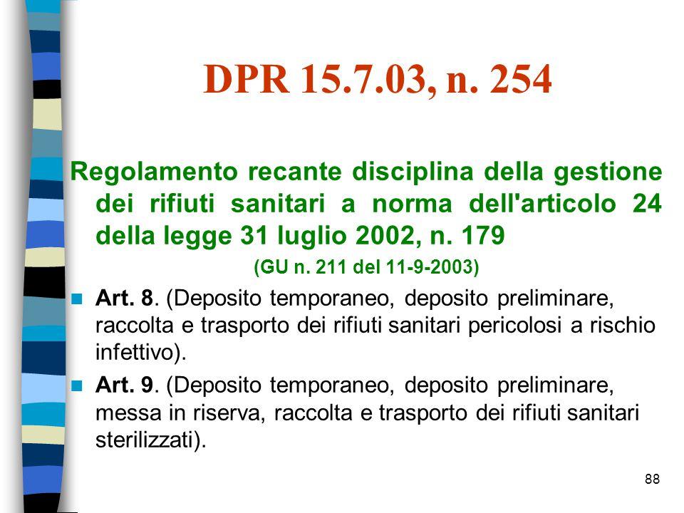 87 45 (Rifiuti sanitari) [ 1.