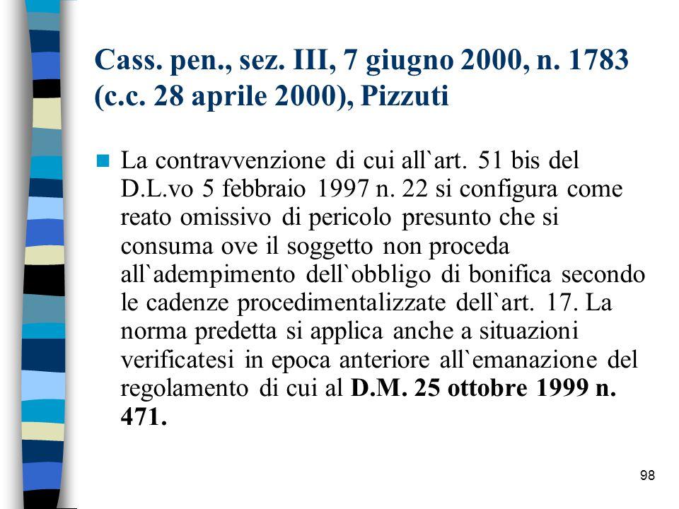 97 Art.58 Dlvo 152/99 (Danno ambientale, bonifica e ripristino ambientale dei siti inquinati).