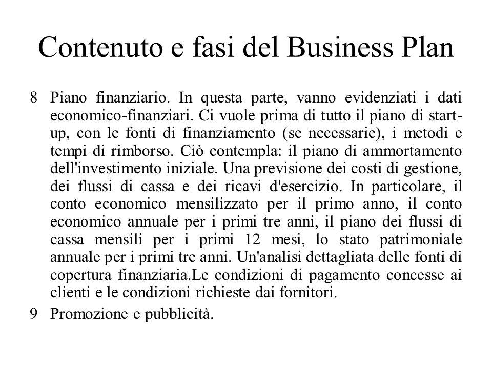 Contenuto e fasi del Business Plan 8Piano finanziario.