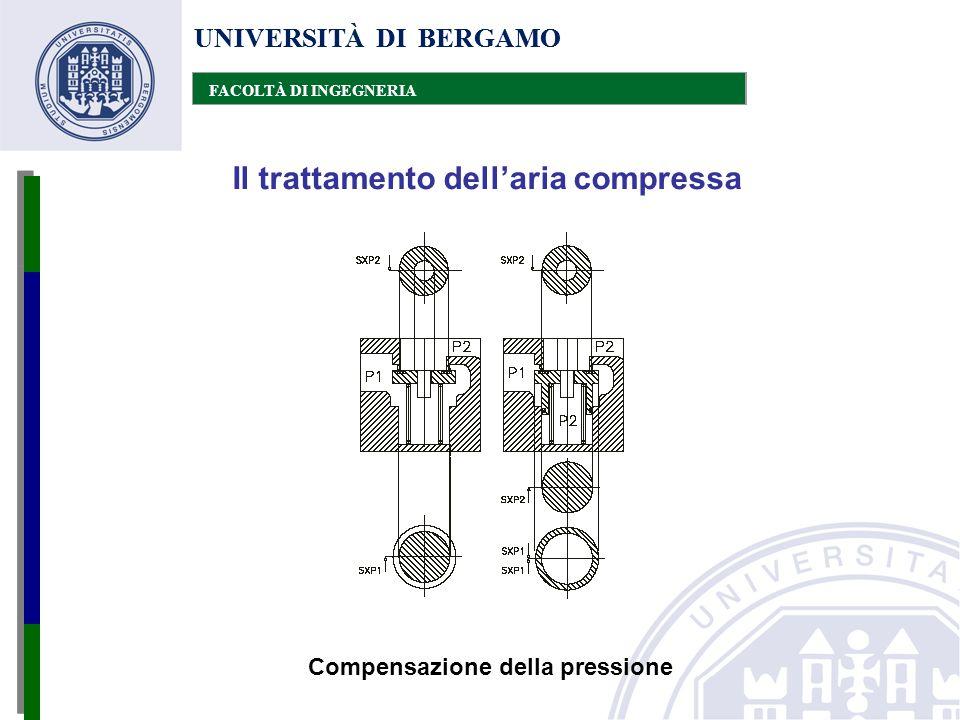 UNIVERSITÀ DI BERGAMO FACOLTÀ DI INGEGNERIA Il trattamento dell'aria compressa UNIVERSITÀ DI BERGAMO FACOLTÀ DI INGEGNERIA Compensazione della pressio