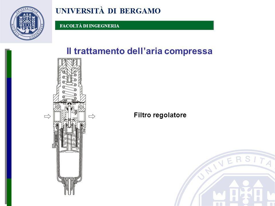 UNIVERSITÀ DI BERGAMO FACOLTÀ DI INGEGNERIA Il trattamento dell'aria compressa UNIVERSITÀ DI BERGAMO FACOLTÀ DI INGEGNERIA Filtro regolatore
