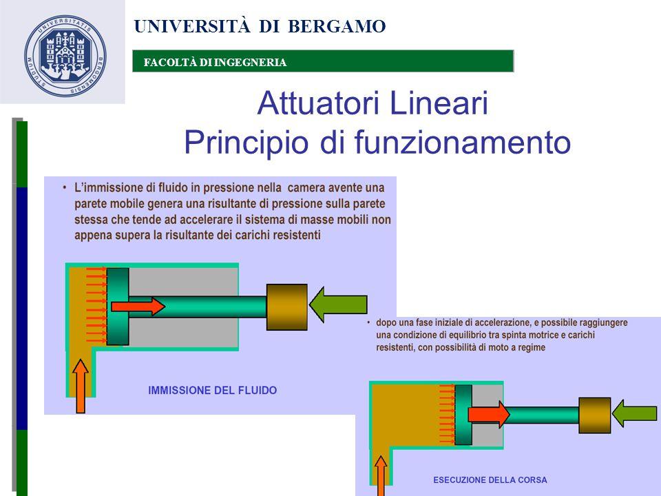 UNIVERSITÀ DI BERGAMO FACOLTÀ DI INGEGNERIA Attuatori Lineari Principio di funzionamento