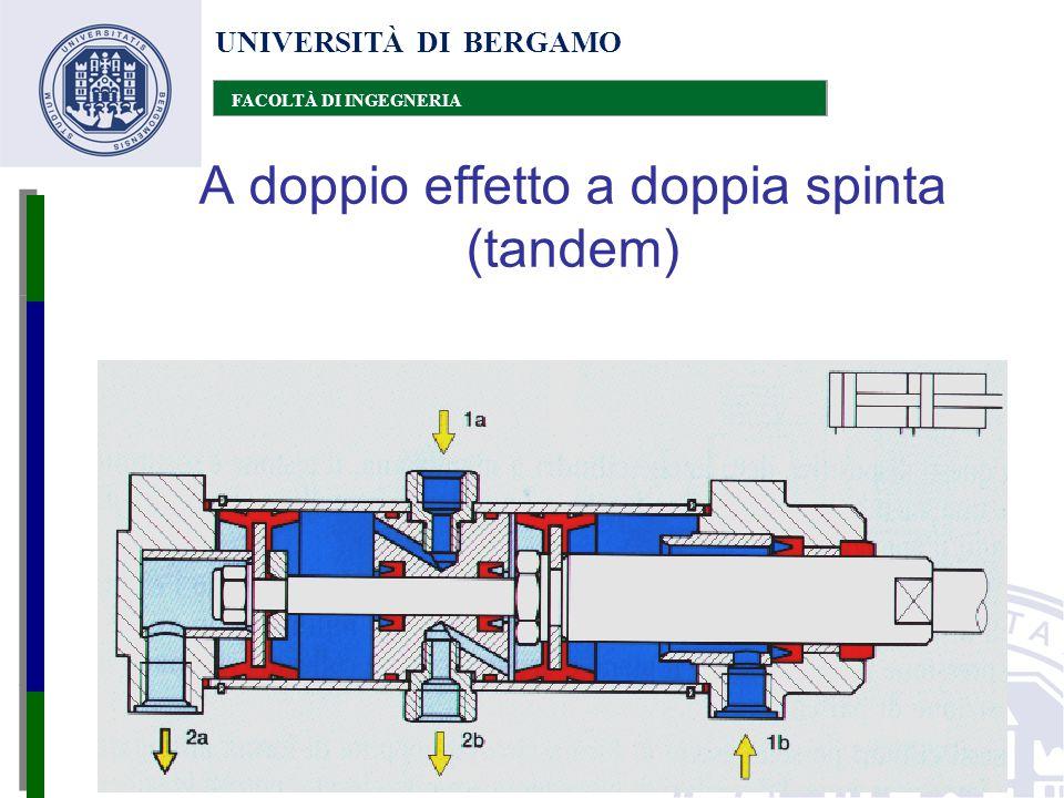 UNIVERSITÀ DI BERGAMO FACOLTÀ DI INGEGNERIA A doppio effetto a doppia spinta (tandem)