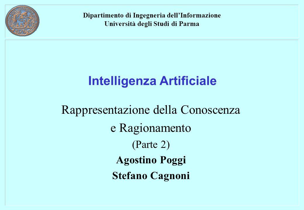 Dipartimento di Ingegneria dell'Informazione Università degli Studi di Parma Intelligenza Artificiale Rappresentazione della Conoscenza e Ragionamento (Parte 2) Agostino Poggi Stefano Cagnoni